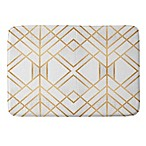 Deny Designs Fredriksson Geo Small Memory Foam Bath Mat in Gold