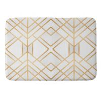 Deny Designs Fredriksson Geo Small Memory Foam Bath Mat in Gold