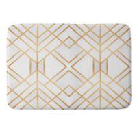 Deny Designs Fredriksson Geo Medium Memory Foam Bath Mat in Gold