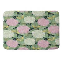 Deny Designs Belle13 Hydrangea Butterflies Medium Memory Foam Bath Mat in Green