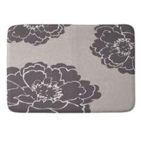 Deny Designs 24-Inch x 36-Inch Caroline Okun Winter Peony Memory Foam Bath Mat