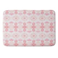 Deny Designs Strawberry Picnic 17-Inch x 24-Inch Memory Foam Bath Mat in Pink