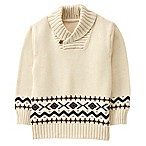 Gymboree® Size 3-6M Geometric Shawl Collar Sweater in Ivory