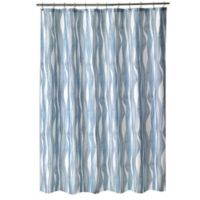 Shell Rummel Tidelines Shower Curtain in Blue