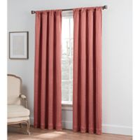 Collette Solid 95-Inch Rod Pocket Window Curtain Panel in Coral