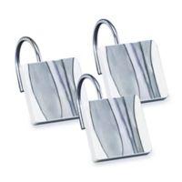 Shell Rummel Tidelines Shower Curtain Hooks in Blue (Set of 12)