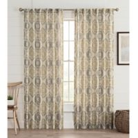 Lahire Print 84-Inch Rod Pocket Window Curtain Panel in Natural