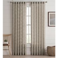 Lashire 95-Inch Rod Pocket Window Curtain Panel in Natural