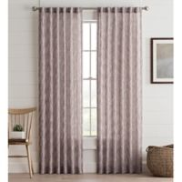 Lashire 63-Inch Rod Pocket Window Curtain Panel in Berry
