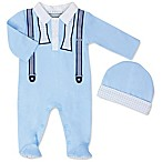 Wendy Bellissimo™ Size 0-3M 2-Piece Footie and Cap Set in Blue