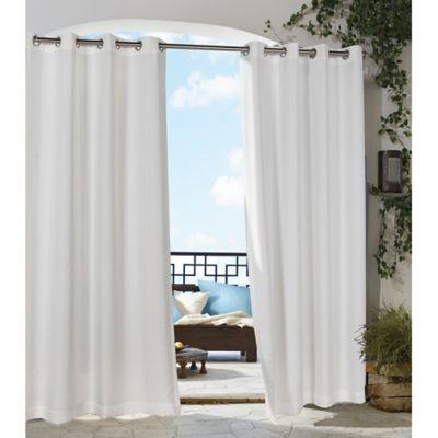 Gazebo 108 Inch Grommet Indoor/Outdoor Window Curtain Panel In White