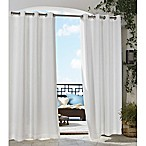 Gazebo 108-Inch Grommet Indoor/Outdoor Window Curtain Panel in White