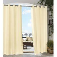 Gazebo 108-Inch Grommet Indoor/Outdoor Window Curtain Panel in Natural