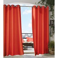 Gazebo 108-Inch Grommet Indoor/Outdoor Window Curtain Panel in Tangerine