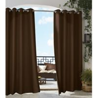 Gazebo 108-Inch Grommet Indoor/Outdoor Window Curtain Panel in Chocolate