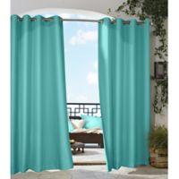 Gazebo 108-Inch Grommet Indoor/Outdoor Window Curtain Panel in Aqua