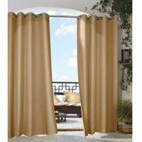 Gazebo 108-Inch Grommet Indoor/Outdoor Window Curtain Panel in Khaki