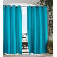 Gazebo 84-Inch Grommet Indoor/Outdoor Window Curtain Panel in Bahama Blue