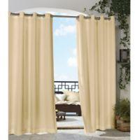 Gazebo 96-Inch Grommet Indoor/Outdoor Window Curtain Panel in Beige