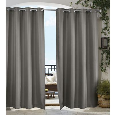 Gazebo 84 Inch Grommet Indoor Outdoor Window Curtain Panel In Dark Grey