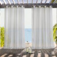 Louisa 96-Inch Grommet Indoor/Outdoor Window Curtain Panel in Gold