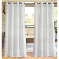 Macie 96-Inch Grommet Indoor/Outdoor Window Curtain Panel in Silver