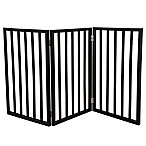 Petmaker Freestanding Wooden Pet Gate in Dark Brown
