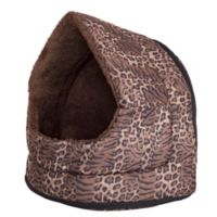 Petmaker X-Large Leopard Cave Pet Bed in Brown