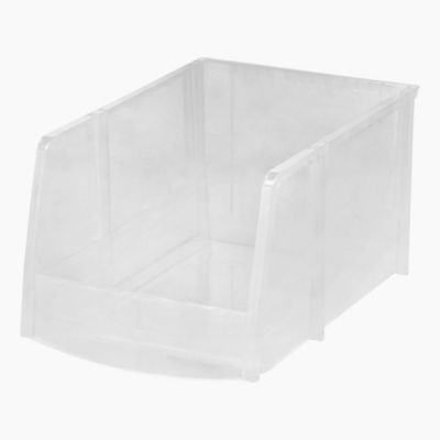 IRIS® Open Front Jumbo Storage Bins In Clear (Set Of 6)