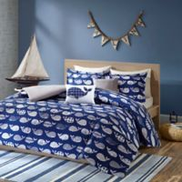 Urban Habitat Kids Moby Twin/Twin XL Whale Printed Comforter Bedding Set in Navy