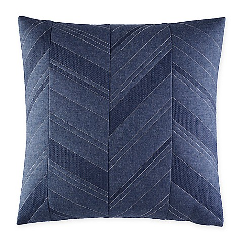 Nautica Decorative Pillows Navy : Nautica Cunningham Quilted Square Throw Pillow in Navy - Bed Bath & Beyond