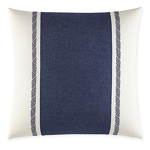 Nautica Decorative Pillows Navy : Nautica Cunningham Embroidered Square Throw Pillow in Navy - Bed Bath & Beyond