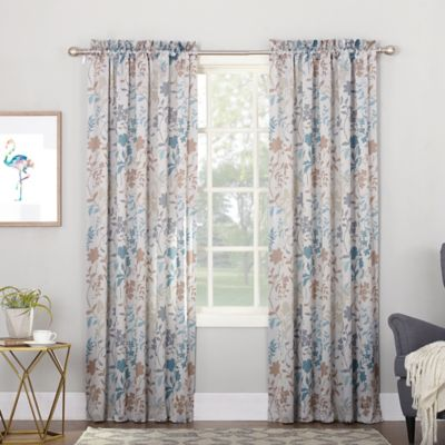 Sun Zero Allena 95 Inch Rod Pocket Room Darkening Window Curtain Panel In Stone