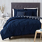 Madrid 5-Piece Queen Comforter Set in Navy