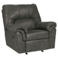 Flash Furniture Bladen Faux Leather Rocker Recliner in Grey
