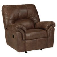 Flash Furniture Faux Leather Rocking Recliner in Brown