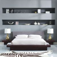 Modway Freja 3-Piece Queen Upholstered Bedroom Set in Cappuccino/Grey