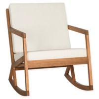 Safavieh Vernon Rocking Chair in Brown/Beige