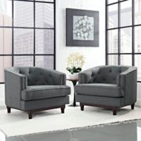 Modway Coast Armchairs in Grey (Set of 2)