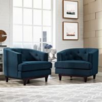 Modway Coast Armchairs in Azure (Set of 2)