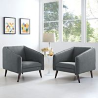 Modway Slide Armchairs in Grey (Set of 2)