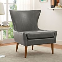 Modway Keen Vinyl Upholstered Arm Chair in Grey