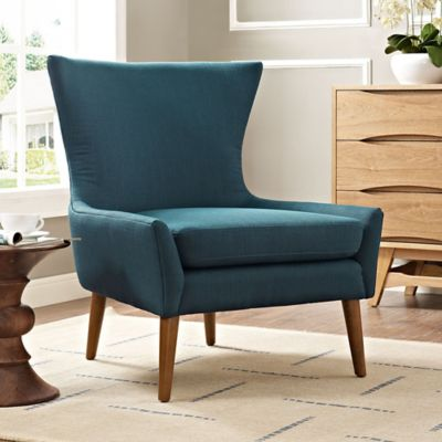 modway keen upholstered arm chair in azure