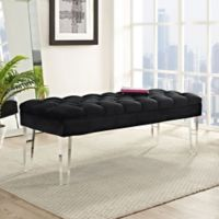 Modway Velvet Valet Bench in Black