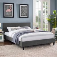 Modway Anya Full Fabric Bed in Grey