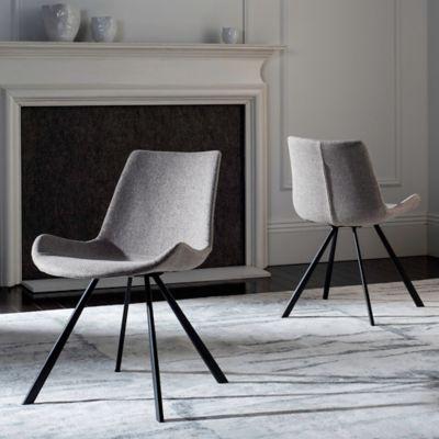 Safavieh Terra Upholstered Accent Chair In Black/Light Grey (Set Of 2)