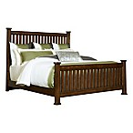 Broyhill™ Estes Park Queen Slat Poster Headboard with Dark Artisan Oak Finish