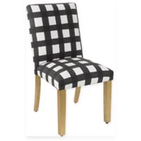 Skyline Furniture Becker Dining Chair in Buffalo Square Black