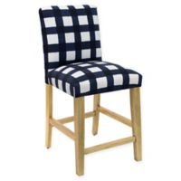 Skyline Furniture Becker Counter Stool in Buffalo Square Blue