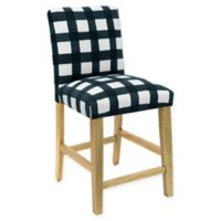 Skyline Furniture Becker Counter Stool in Buffalo Square Turquoise